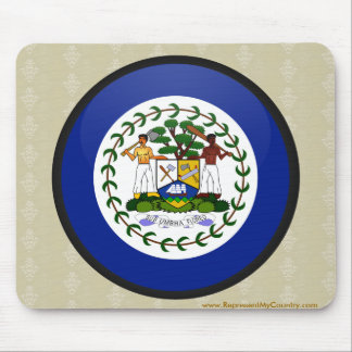 Belize quality Flag Circle Mouse Pad