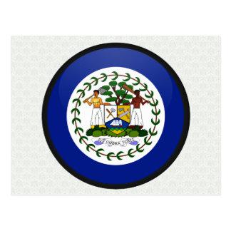 Belize quality Flag Circle Postcard
