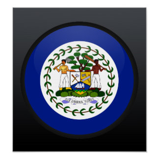 Belize quality Flag Circle Posters