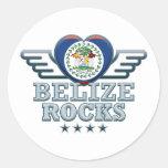 Belize Rocks v2 Round Sticker
