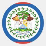 Belize Round Stickers