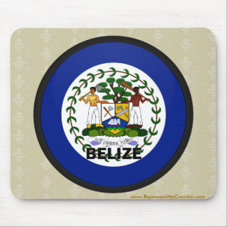 Belize Roundel quality Flag Mouse Pad
