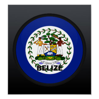 Belize Roundel quality Flag Posters