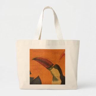 Belize Rustic Toucan 1 Large Tote Bag