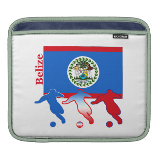 Belize Soccer Players Sleeve For iPads