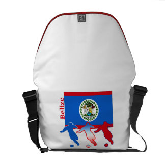 Belize Soccer Players Courier Bags