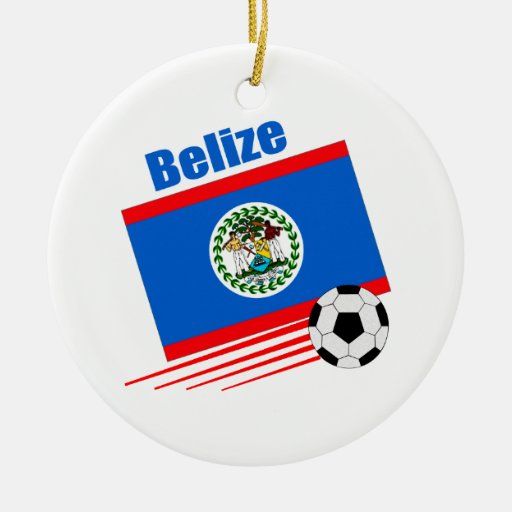 Belize Soccer Team Christmas Tree Ornaments