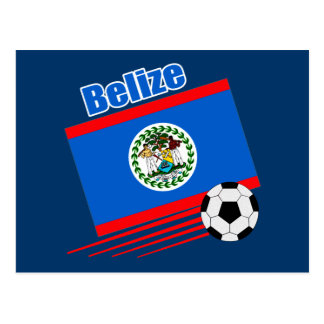 Belize Soccer Team Postcard