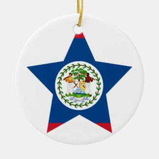 Belize Star Christmas Ornament