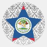 Belize Star Round Stickers