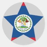 Belize Star Stickers