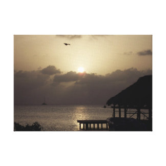 Belize Sunset on Canvas Stretched Canvas Print