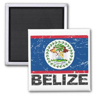 Belize Vintage Flag 2 Inch Square Magnet