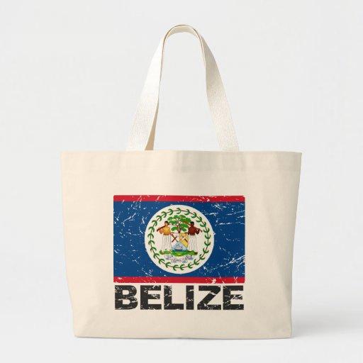 Belize Vintage Flag Jumbo Tote Bag
