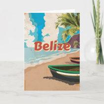 Belize Vintage travel poster Holiday Card
