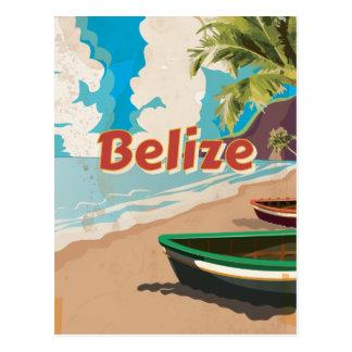 Belize Vintage travel poster Postcard