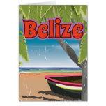 Belize vintage vacation poster card