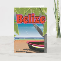Belize vintage vacation poster holiday card