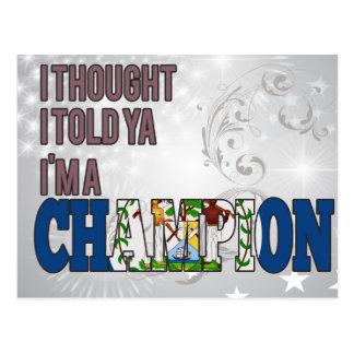 Belizean and a Champion Postcard