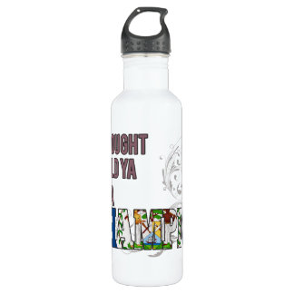 Belizean and a Champion Stainless Steel Water Bottle