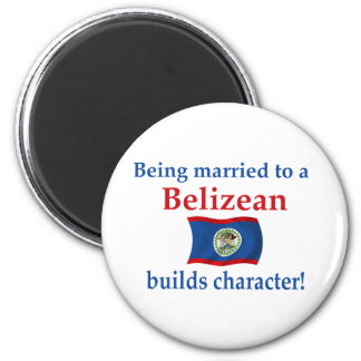 Belizean Builds Character 2 Inch Round Magnet