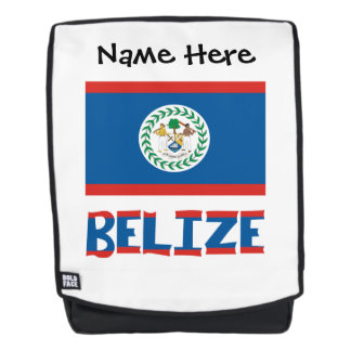 Belizean Flag and Belize with Name Backpack