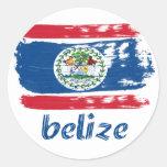Belizean Flag designs Classic Round Sticker