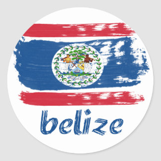 Belizean Flag designs Classic Round Sticker