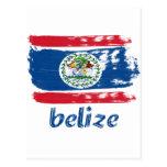 Belizean Flag designs Postcard