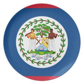 Belizean Flag Dinner Plate