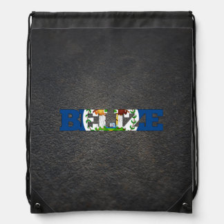 Belizean name and flag drawstring bag