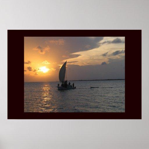 Belizean Sunset Print