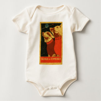 Belka and Strelka Baby Bodysuit