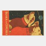 Belka and Strelka Rectangular Sticker