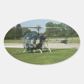 Bell47 Oval Sticker