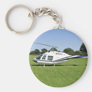 Bell 206B JetRanger II Helicopter Keychain