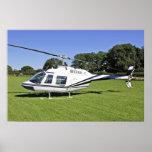 Bell 206B JetRanger II Helicopter Poster