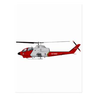 Bell AH-1 USFS Fire Watch Postcard