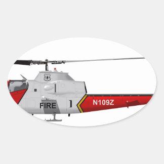 Bell AH-1 USFS Fire Watch Oval Sticker