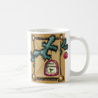 Bell and Evergreen Christmas Mug