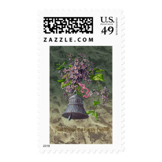 Bell and Lilacs Vintage Easter Stamps