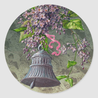 Bell and Lilacs Vintage Easter Stickers