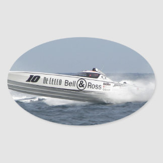 Bell and Ross Powerboat. Oval Sticker
