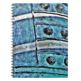 Bell azul abstracta libretas espirales
