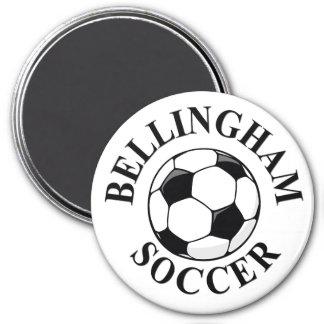 Bell Ball & Logo (A) CMYK BLACK 10x10 Refrigerator Magnets