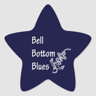 Bell Bottom Blues Star Sticker