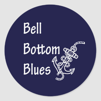 Bell Bottom Blues Classic Round Sticker