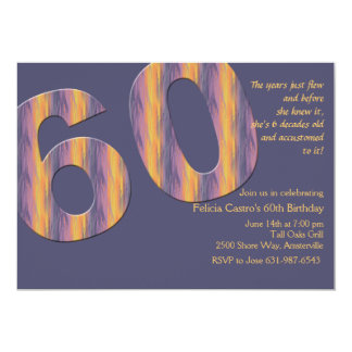 Bell Bottoms Sixty Birthday Party Invitation