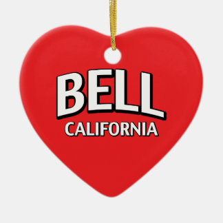 Bell California Ceramic Ornament