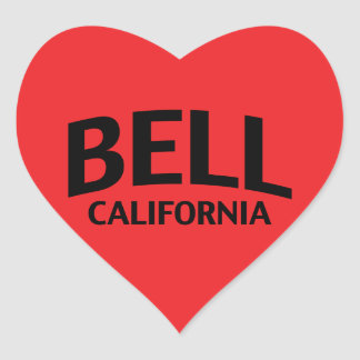 Bell California Heart Sticker